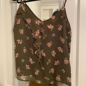 Floral Tank with Ruffles (New York & Co)
